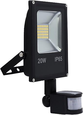 Hengda® 20W Blanco frío Foco proyector Exterior LED detección de ...