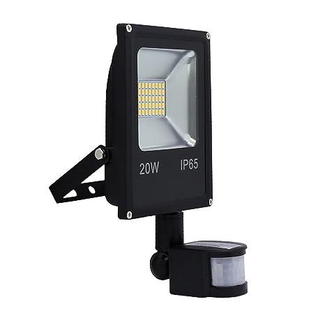 Hengda® 20W Blanco frío Foco proyector Exterior LED detección de movimiento PIR sensor Resistente al