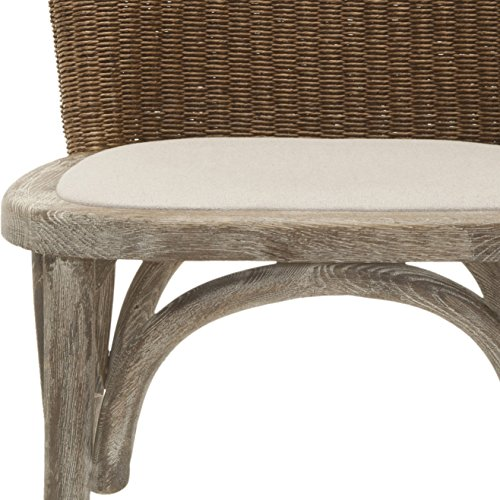 Safavieh Mercer Collection Sharon Finish Taupe Side Chairs, Antique Oak, Set of 2 by Safavieh (Image #5)
