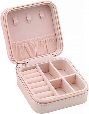 Gobesty Caja Joyero Pequeña, pequeño Organizador de joyería portátil Mini Caja de joyería Estuche para Anillos Pendientes Collares Pulseras: Amazon.es: Joyería