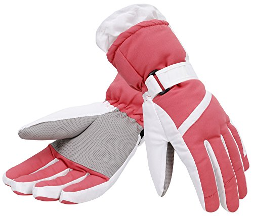 Simplicity Womens 3M Thinsulate Insulated Sports Ski Gloves, S, Rose Red