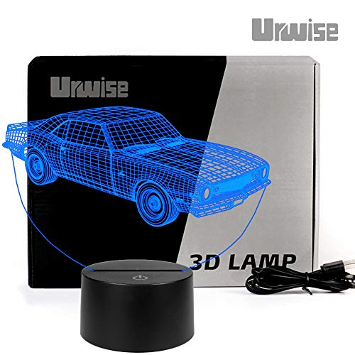 - Muscle Car Touch Control 7 Color Change 3D Lamp, Night Light, Desk Lamp, Kids & Baby Night Lamp, Home Decoration or Birthday Gifts, USB or 7# Dry Battery Power supply3200