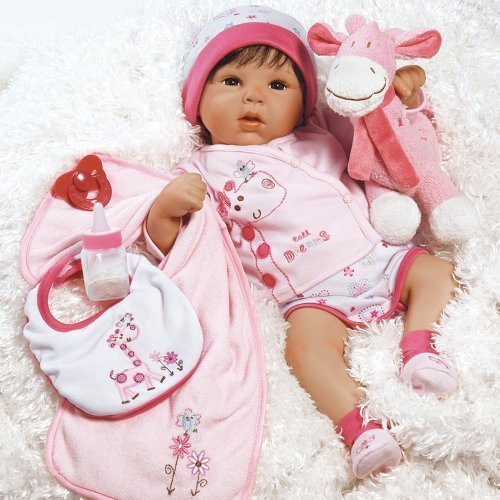 Paradise Galleries Lifelike Realistic Baby Doll, Tall Dreams Gift Set Ensemble, 19-inch Weighted Baby, for Ages 3+ (Silicone Baby Dolls)