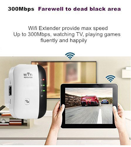 WiFi Range Extender WiFi Booster Wireless Repeater WiFi Extender Antenna AP/Repeater Long Range Extender Integrated Antenna,RJ45 Port, WPS Dual Band 300Mbps 2.4GHz (300Mbps) by FDG (Image #3)