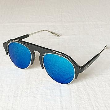LLZTYJ Sonnenbrillen/Wind/Sonnenschirm/Strand/Outdoor/Geburtstag/Geschenke/Valentinstag/Damen-Sonnenbrille Damen-Runde Brille/Sonnenbrille/, Glas-Tee-Box Tee (Tasche + Tuch)