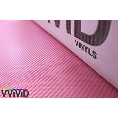 VViViD XPO Pink Carbon Fiber Car Wrap Vinyl Roll with Air Release Technology (1ft x 5ft): Automotive