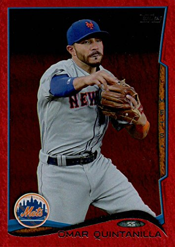 OMAR QUINTANILLA RED FOIL PARALLEL SPECIAL INSERT BASEBALL CARD - 2014 TOPPS UPDATE BASEBALL CARD #US-126 (NEW YORK METS) FREE SHIPPING AND - Shipping Us Tracking