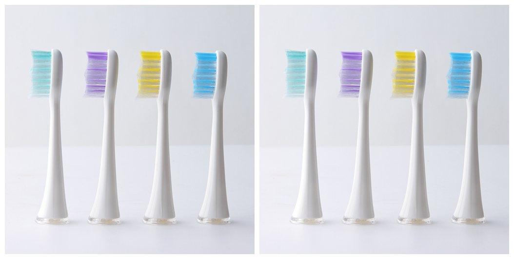 交換用歯ブラシヘッドfor Sensitive歯と互換性tb-1206 Electric Sonic歯ブラシ、ホワイト 8PCS ホワイト TS-1206-20 B074FR45Q8   8PCS