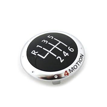 Accesorios Originales Volkswagen - Insignia 4MOTION para pomo, color cromado / rojo 1K0711144M: Amazon.es: Coche y moto