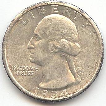1934 Washington Double Die Obverse Quarter Choice Brilliant