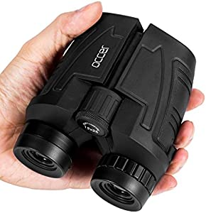 occer 12x25 Compact Binoculars with Clear Low Light Vision