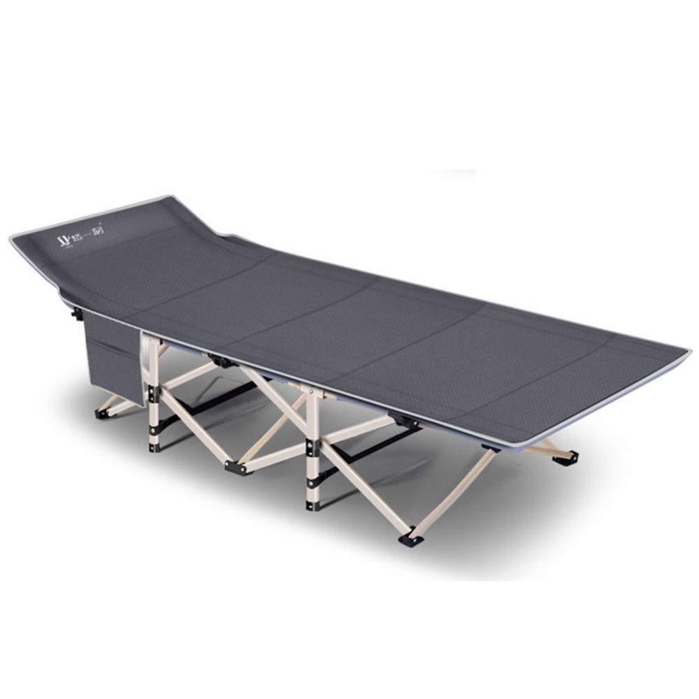 MISHUAI Klappbett, Ultraleicht Klapp Angeln Camping Bett schlafen tragbaren Rucksack Zelt Kinderbett 4 Farboptionen Einfache Stapelung und Lagerung (Farbe : Grau, Größe : 67 * 190 * 35cm)
