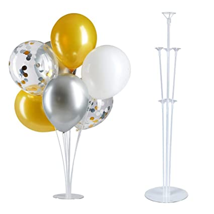 Amazon Com Dongy Balloon Stand Kit Clear Tabletop Balloon Holder