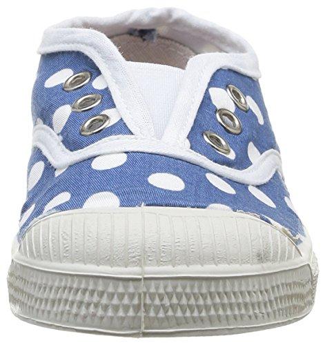 Bensimon Tennis Elly Pois - Primeros Pasos de canvas Bebé - unisex azul - Bleu (Bleu 532)