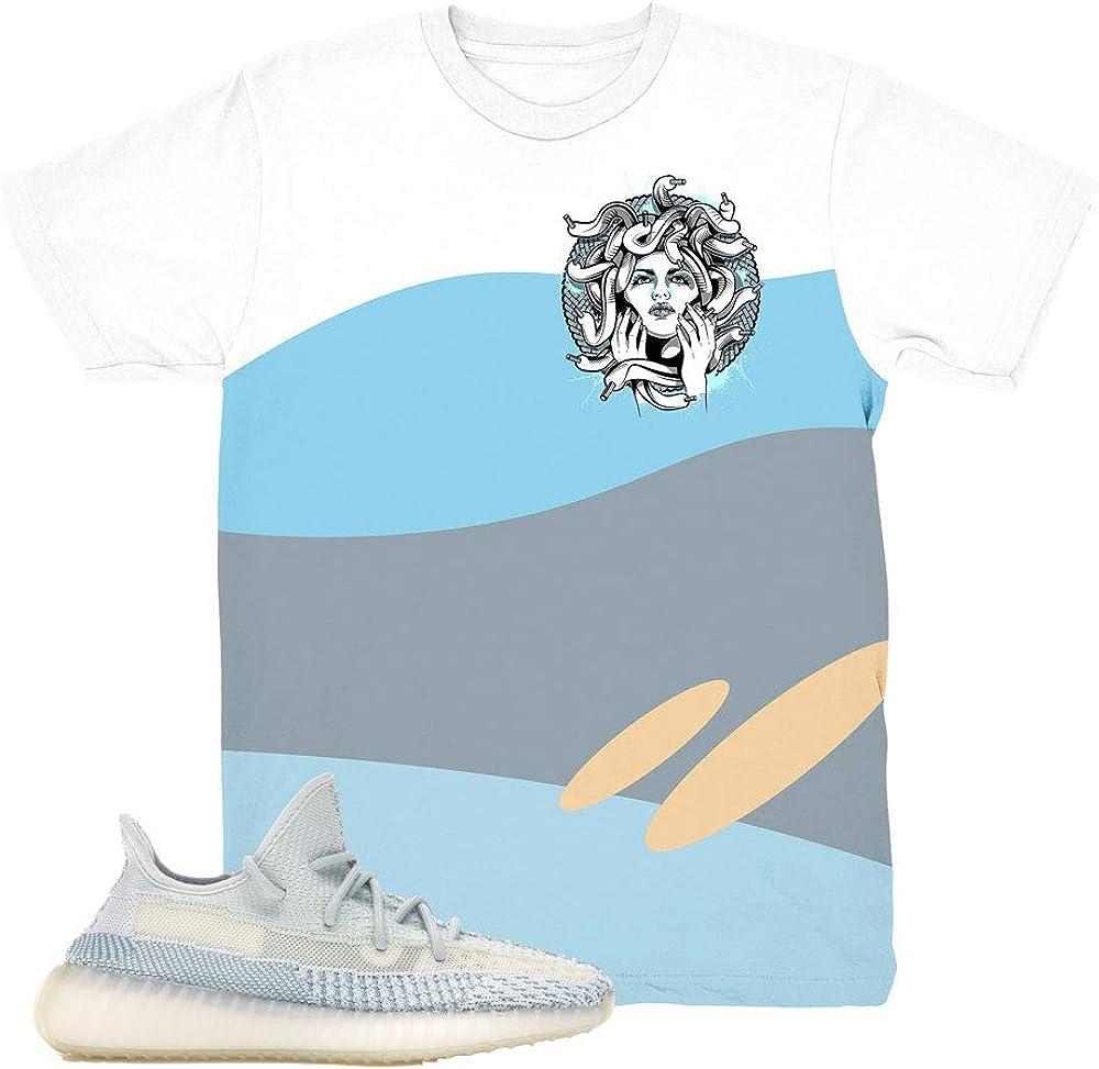 Yeezy 350 Cloud White Wave Medusa Shirt
