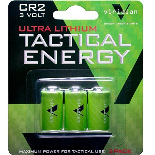 Viridian CR2 3 Volt Lithium Battery, 3-Pack by Viridian Green Laser Sights