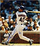 "Henry Rodriguez Chicago Cubs Autographed 8"" x 10"" Bat Photograph - Fanatics Authentic Certified - Autographed MLB Photos"