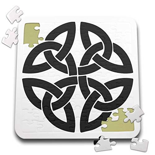3dRose Taiche - Vector Art - Celtic Knot - Celtic Shamrock Tribal Knot - 10x10 Inch Puzzle (pzl_305940_2)