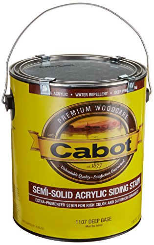 Cabot Stains 1107 Waterbased Semi Solid Acrylic Stain (Cabot Semi Solid Stain)