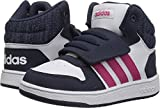 Best Basketball Shoes For Kids - adidas Kids' Hoops Mid 2.0 Basketball Shoe, White/Real Review
