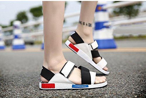 amp;W Open Toe Ankle Strap White Outdoor Sandals Summer Fashion Mens H FTqUgq