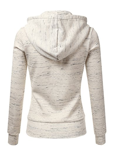 4512de06bb2 Doublju Lightweight Thin Zip-Up Hoodie Jacket for Women with Plus Size  MARLEDOATMEAL Medium