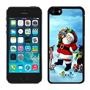 Diy Design Iphone 5C TPU Case Santa Claus Black iPhone 5C Case 27