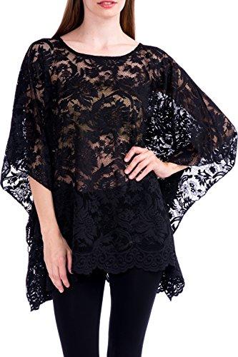 Modern Kiwi Lace Affair Caftan Poncho Tunic