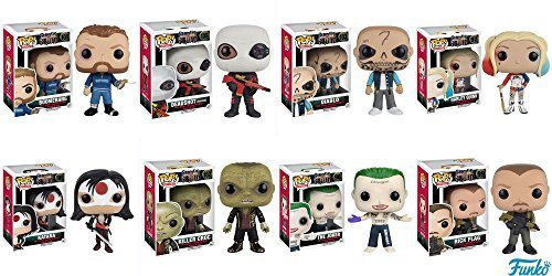 POP Movies: Suicide Squad - Joker Shirtless,Rick Flagg, Killer Croc, Katana, Deadshot (Masked), El Diablo, Harley Quinn, Boomerang! Vinyl Figures Set of 8