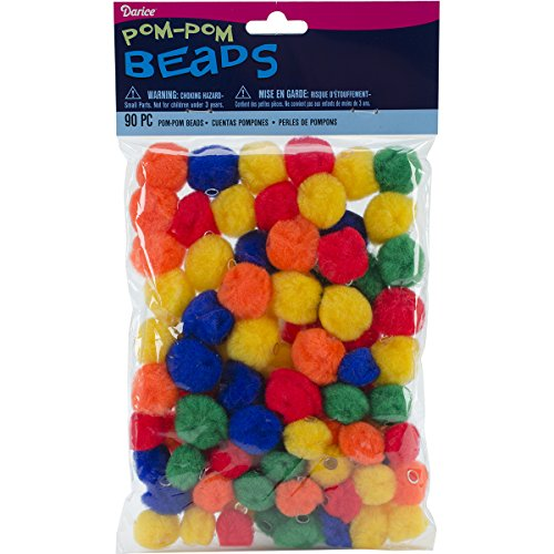Darice 1181-89 Pom Beads for Crafts - Primary Colors Pom Beads ()