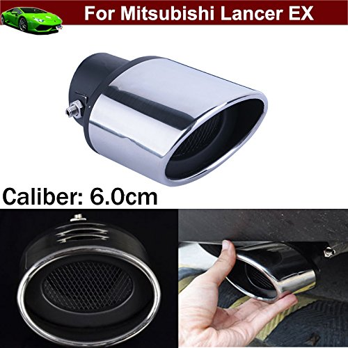 OEM 1pcs Stainless Steel Exhaust Muffler Rear Tail Pipe Tip Tailpipe Extension Pipes Custom Fit for Mitsubishi Lancer EX 2007 2008 2009 2010 2011 2012 2013 2014 2015 2016 2017 2018 2019 2020