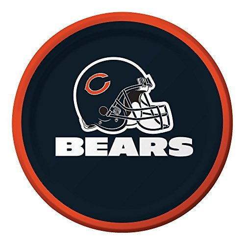 Creative Converting Officially Licensed NFL Dessert Paper Plates 96-Count Chicago Bears [並行輸入品]   B07DWN3TKS
