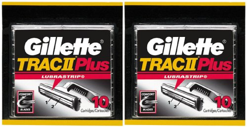 Gillette TRAC II Plus Refill Cartridges - 10 ct - 2 - Razor 11 Trac Blades
