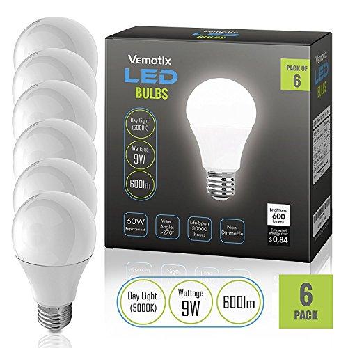 [LED Light Bulb BR30 - Daylight 5000K - 9W Bulbs - 75 Watt Equivalent (Pack of 4)] (In The Spotlight Costumes)