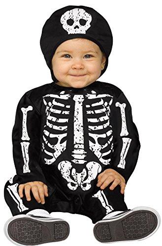 Toddler Skeleton Dress (White Baby Bones Skeleton Infant Costume, 12-24 Months)