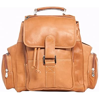 durable service David King & Co. Deluxe Top Handle Extra Large Backpack, Tan, One Size