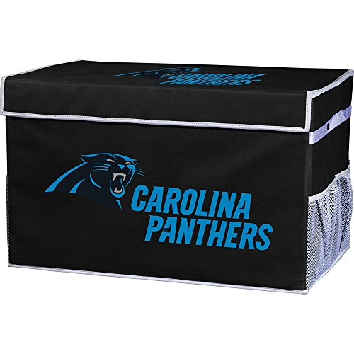 Franklin Sports Carolina Panthers NFL Folding Storage Footlocker Bins - Official NFL Team Storage Organizers - Collapsible Containers - Small