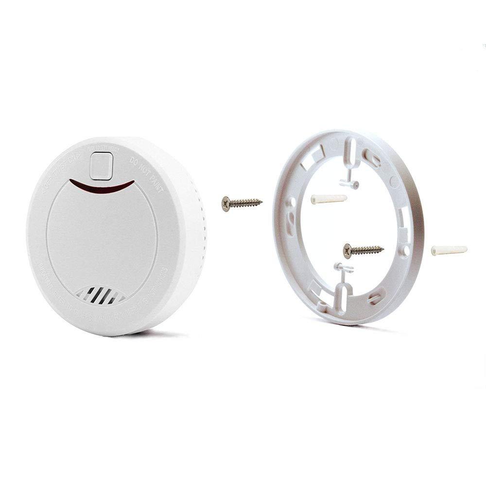 con indicador LED y fotoelektrischen Sensor//–/Blanco//–/1ER de Juego heiman 10/a/ños Detector de Humo