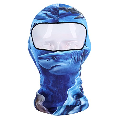 YASHALY Balaclava Ski Mask Thin Breathable Masked Hoods Hats 3D Summer Bandana Full Face Ninja Masks for Men and Women (Free Size, (Scorpion Face Mask)