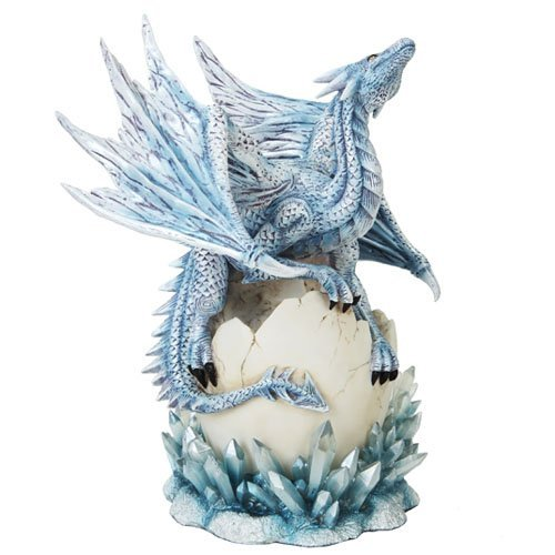 Collectible Blue Dragon on Egg Statue (Dragon Collectible Figurine Statue)
