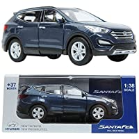 PINO B&D HYUNDAI SANTAFE 1:38 Diecast Miniature Display case BLUE Color