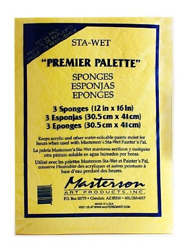 (Masterson Premier Acrylic Paper and Sponge Refills pack of 3 Sponge Refill [PACK OF 2 ])