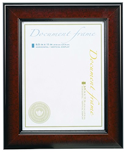 V-LIGHT Executive Wide-Profile Document Frame - Executive Black Red Border