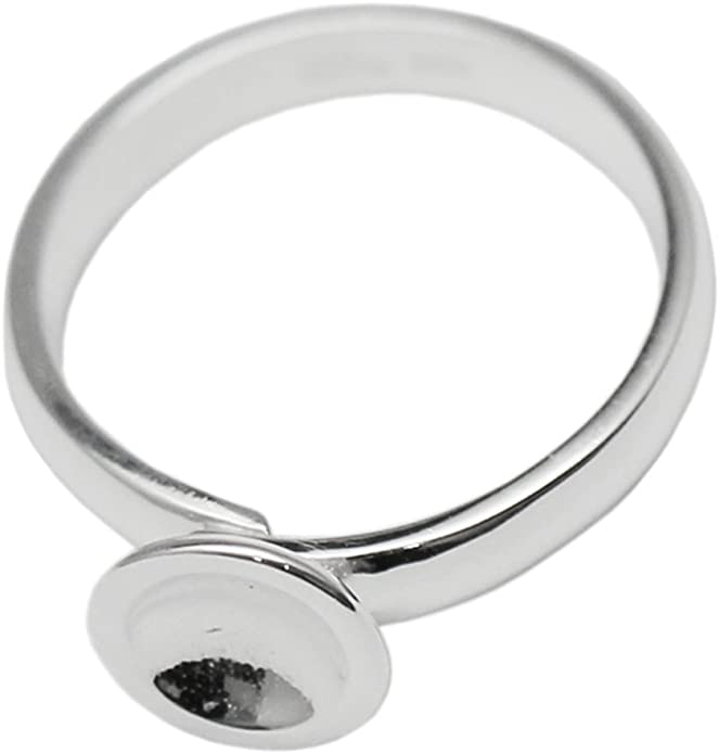 blank ring sterling silver 925 sterling silver open base ring with bezel cup for cabochon 6 mm base ring ring 1 piece silver ring
