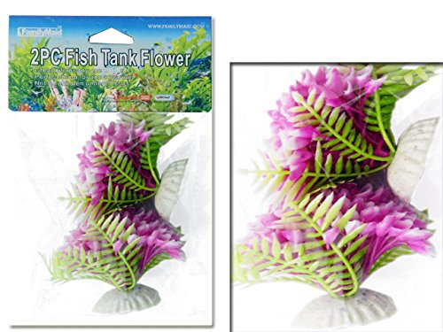 FISH TANK FLOWER 2PC ASST , Case of 144 by DollarItemDirect