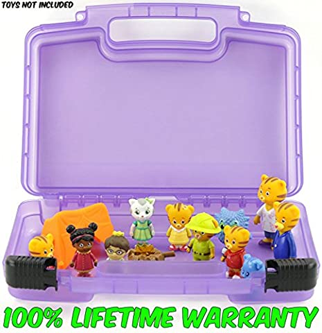 Life Made Better Toy Storage Organizer. Fits Up To 30 Mini Figures. Compatible With Daniel Tiger's Neighborhood Friends TM And (Full Face Character Hoodie)