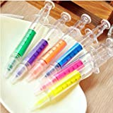 SDBING 6 Pcs Syringe Highlighter Pens with 6 Colors