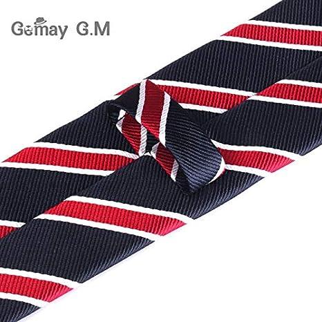 e0a004d18953 Amazon.com : Graven 6cm Width Mens Ties New Fashion Plaid Neckties Corbatas  Gravata Jacquard Woven Slim Tie Business Wedding Stripe Neck Tie for Men ...