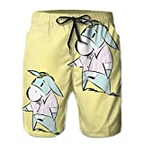 Hip Hop Pug Gentleman Men's Swim Trunks Quick Dry Bathing Suits Summer Casual Surfing Board Shorts