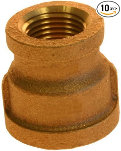 Plumbers Choice 90019 3//8-Inch x 1//8-Inch Brass Reducer 10-Pack